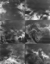 """Photo: © Olivier Perrot Montage de 6 photogrammes """"les mains"""" 100x100 réalisé en 1996"""