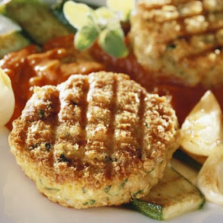 Grilled Veggie Cakes with Courgettes