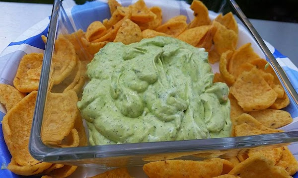 Chill and serve with assorted vegetables, corn chips, tortilla chips and is even great...
