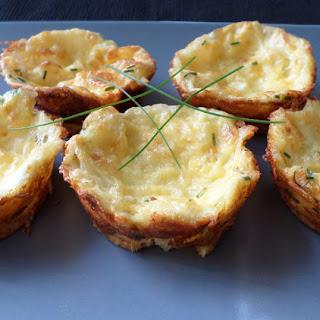 Crustless Two Cheese Mini Quiches.