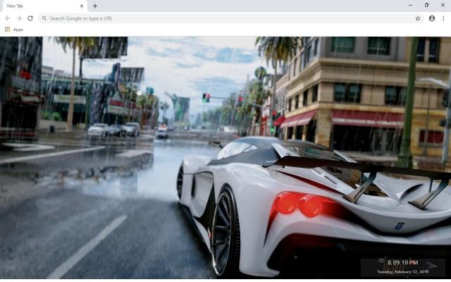 GTA V Grant Theft Auto V New Tab Theme