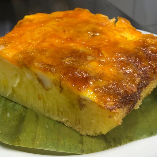 Rice Cake with Salted Egg | Bibingka with Itlog Maalat