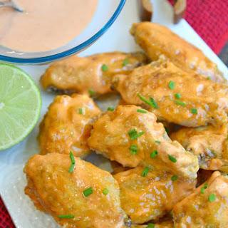 Sweet Sriracha Baked Chicken Wings.