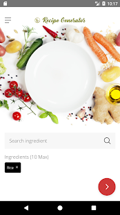 Recipe Generator- screenshot thumbnail
