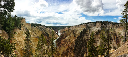 Photo: Panoramic view of the Canyon and water falls
