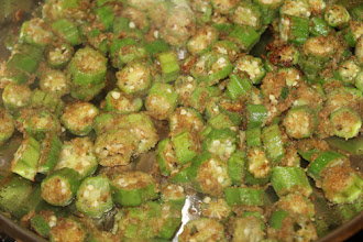 Photo: I made okra with some of the fresh okra I bought. It was so good!