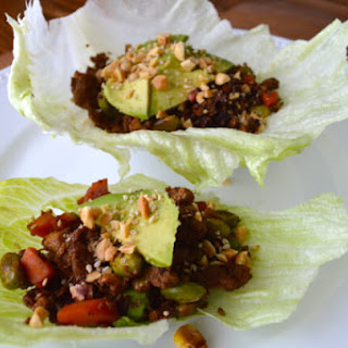 ASIAN TURKEY LETTUCE CUPS with AVOCADO Recipe