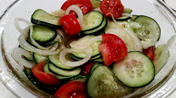 ~ Cucumber / Tomato Salad ~ Recipe