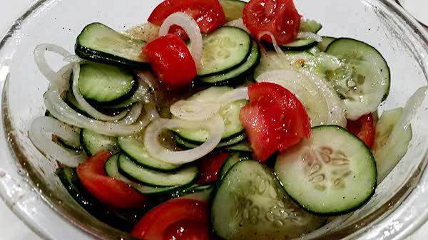 ~ Cucumber / Tomato Salad ~ Recipe