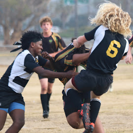 Move or get ran over by Earnie Campbell - Sports & Fitness Rugby ( rugby )