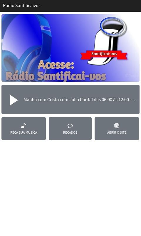 Rádio Santificai-vos- screenshot