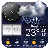 Weather Forecast with Analog Clock