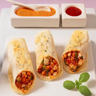 Feurige Tortillas mit Tomaten-Creme