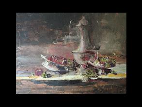 Photo: Андрей Цуп, «Сутінковий натюрморт», холст, масло, 60х80см