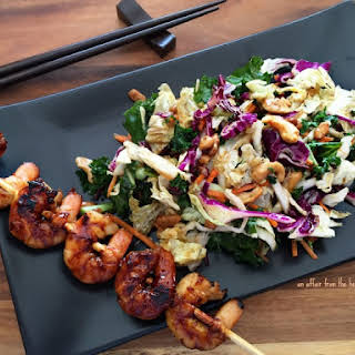 Sweet Heat Asian Grilled Shrimp Skewers.