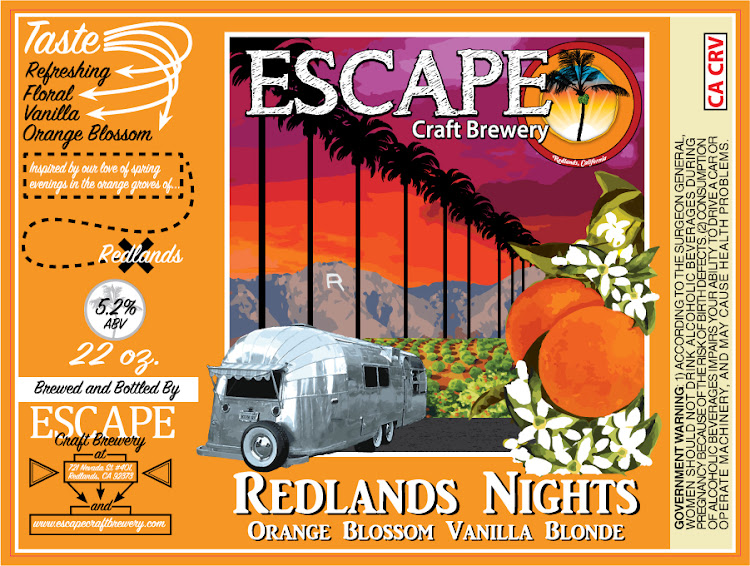 Logo of Escape Redlands Nights Orange Blossom Ale