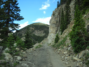 Photo: Up the exposed shelf road, er, railroad