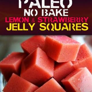 Lemon & Strawberry Jelly Squares