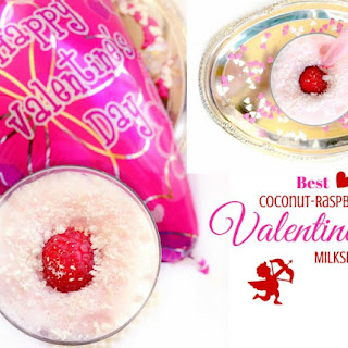 Best Coconut-Raspberry Valentines Milkshake.