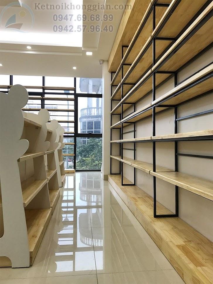thiết kế thi công nội thất nhà sách hiện đại