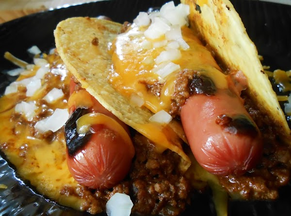 Chili Cheese Dog Tacos Recipe