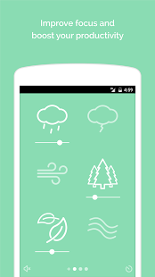 Noisli - Fokus, Konzentration & Entspannung Screenshot