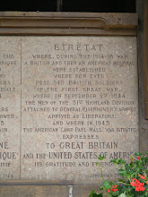 Photo: War memorials and expressions of gratitude to the Allies are by no means restricted to the major battle sites. Plaques like this can be found in many places in Normandy.