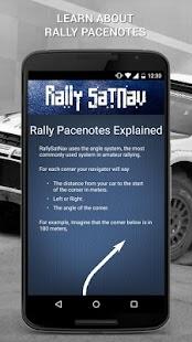 Rally SatNav screenshot