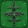 Green Gothic Cross Go Launcher Theme