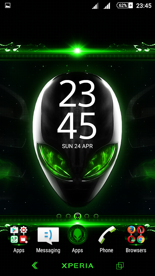 Alien Xperien Theme - Android Apps on Google Play