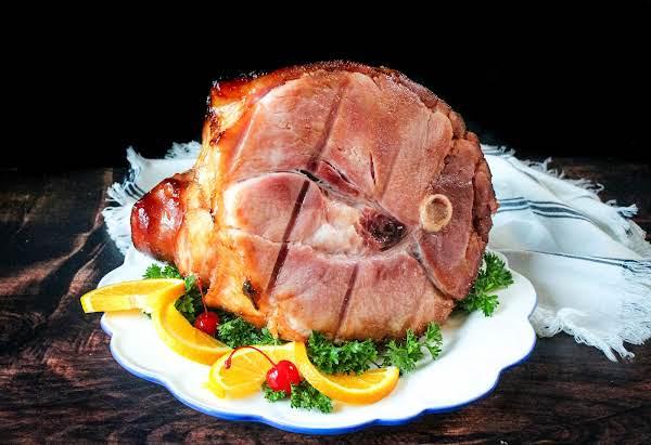 Bourbon Honey Ham Glazed Ham.