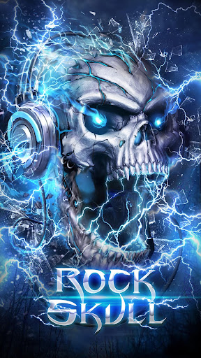 Electric Skull Live Wallpaper By 3d Theme Hd Live