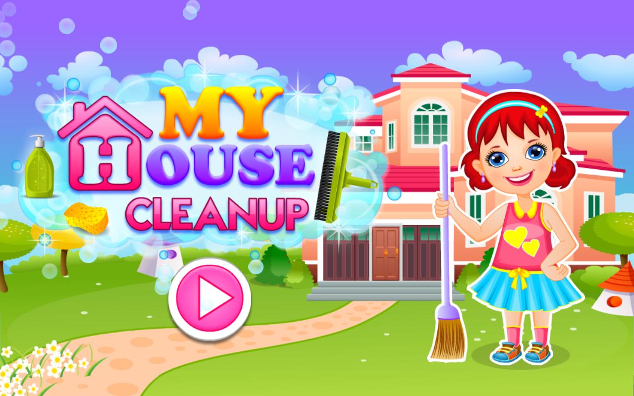 Clean up bathroom games - My House Cleanup Screenshot