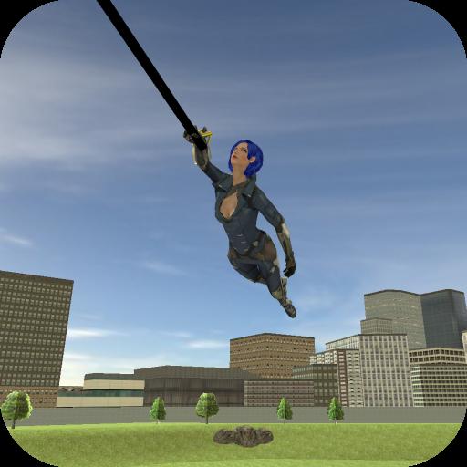 Super Girl Rope Hero 2