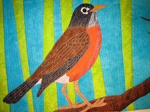 """Photo: Detail from """"Harbinger's Hope"""" by Susan Brubaker Knapp www.bluemoonriver.com"""