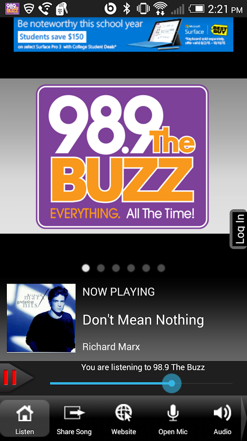 98.9 The Buzz WBZA-FM- screenshot