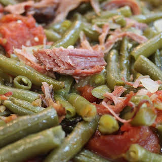 Southern Green Beans with Smoked Turkey.