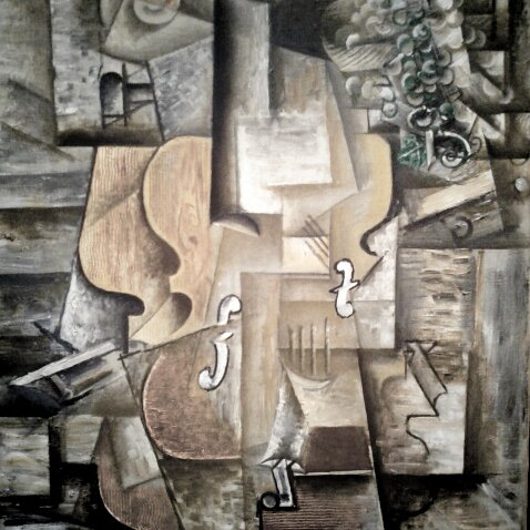 Photo: Picasso, Violin and Grapes -- MOMA.