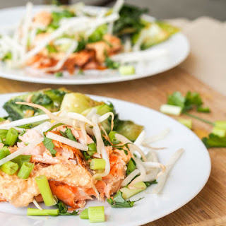 'Broiled Red Curry Salmon with Bean Sprouts {Gluten-Free, Dairy-Free}.