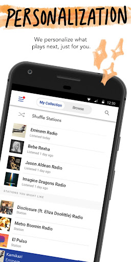 Screenshot for Pandora Music in United States Play Store