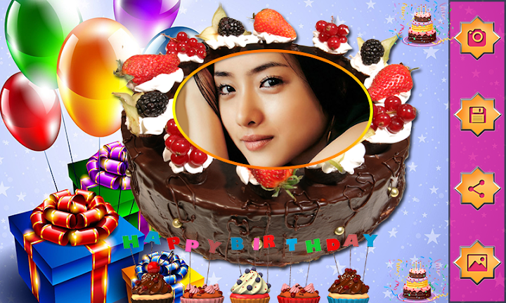 Name Photo On Birthday Cake Love Frames Editor On Google Play