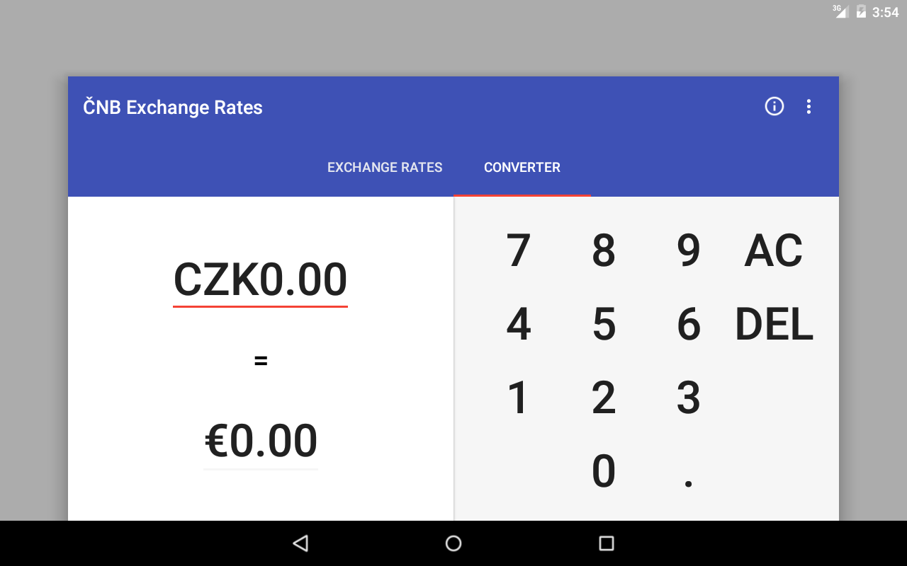 Czech Koruna Exchange Rates- screenshot