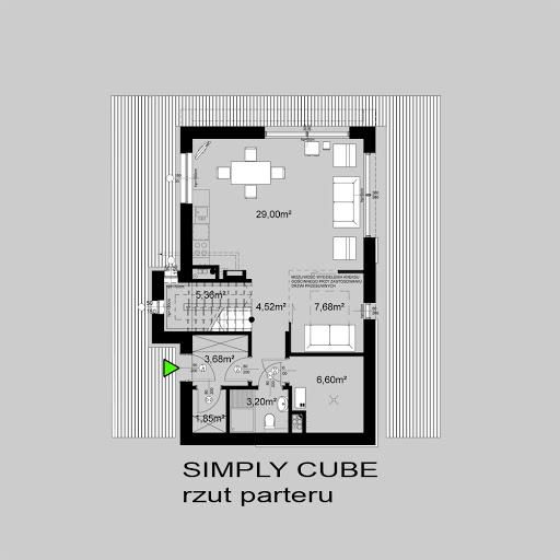 Simply Cube - Rzut parteru