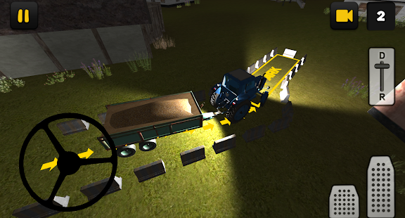 Night Tractor Parking 3D - náhled