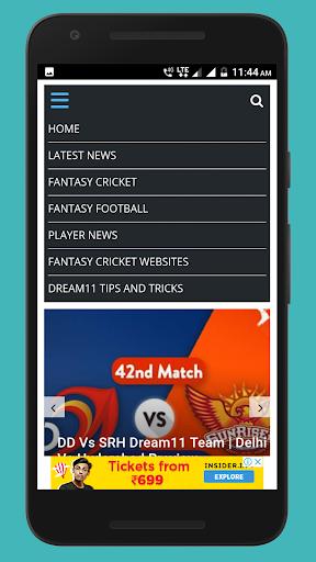 Dream 11 Pro tips and Prediction 4.1 screenshots 1