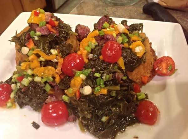Collard Greens With Agave & Smoked Meats