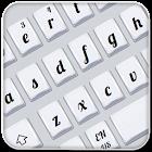 Teclado blanco simple icon