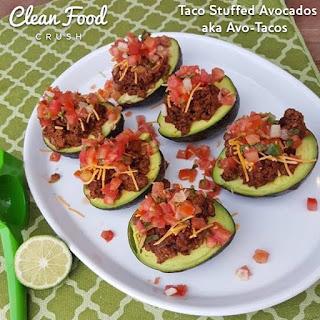 "Taco Stuffed Avocados aka ""Avo-Tacos"""