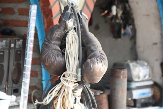 Photo: Day 171 - Boxing Gloves on a Bric a Brac Stall