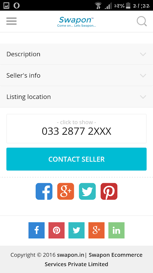 Swapon Free Ads Classifieds- screenshot